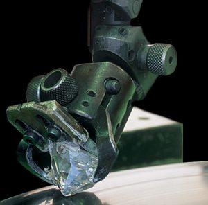 Diamond Polishing of a Hearts and Arrows Diamond